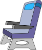 airplane seat png